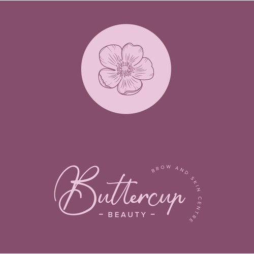 Flower symbol wanted to compliment our posh brow studio logo at Buttercup Beauty logo