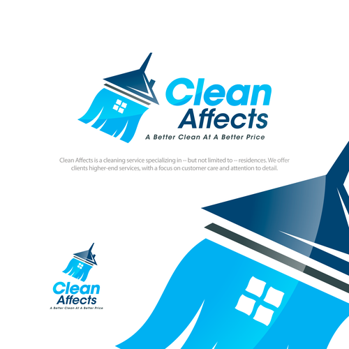Logo for cleaning service company