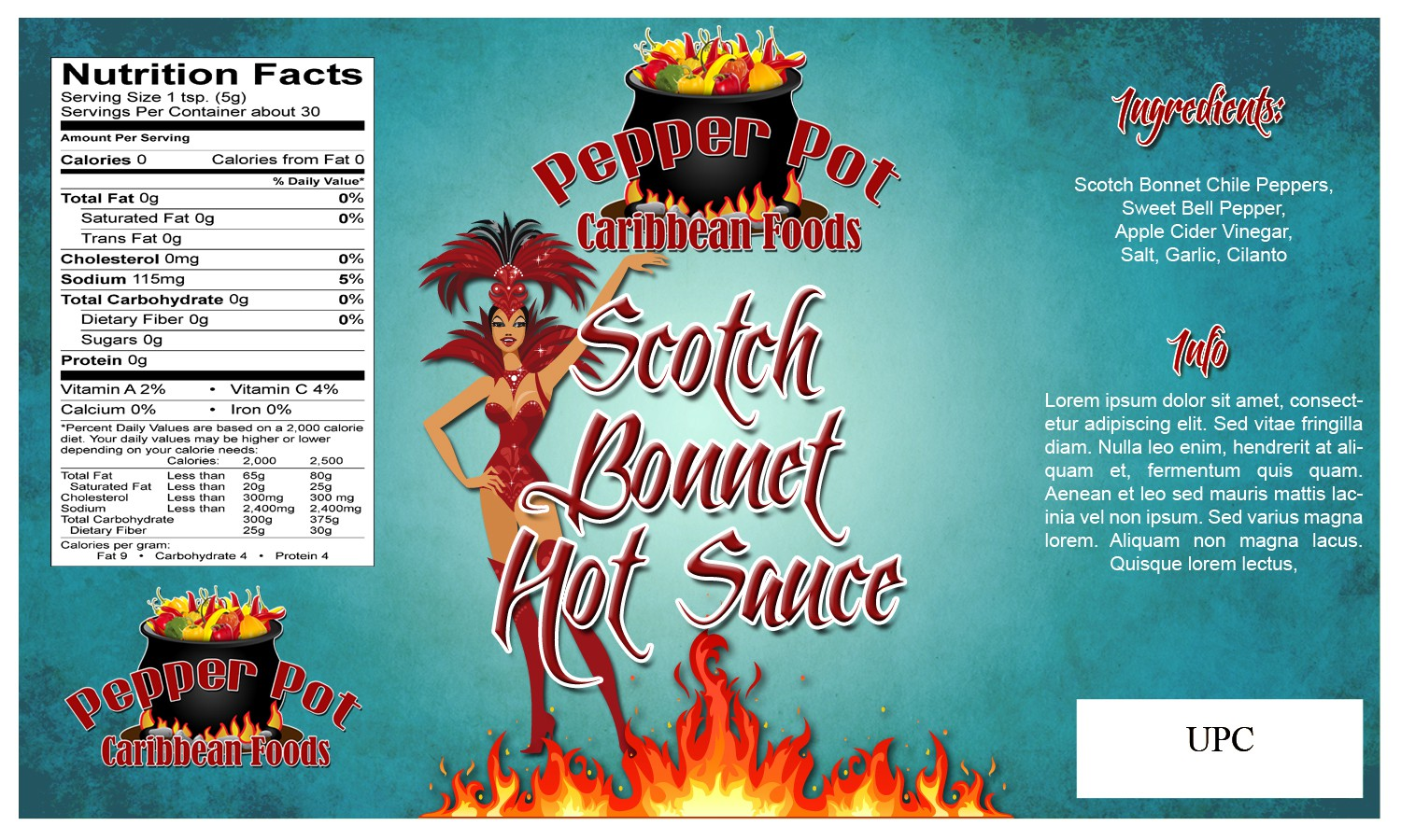 Help PEPPER POT CARIBBEAN FOODS, LLC. with a new product label