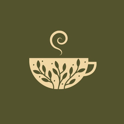 An elegant and organic logo design for a sustainable tea e-commerce brand
