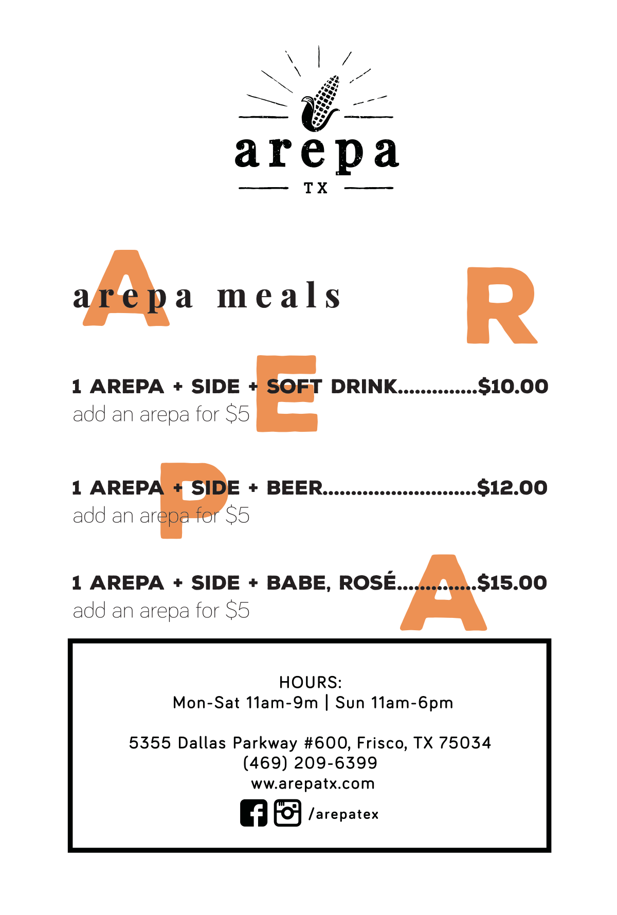 Arepa Meal - Postcards