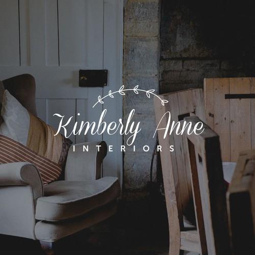 Feminine and gracious logo for an interior designer