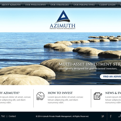 Create a webpage for a prestigious private wealth management firm.