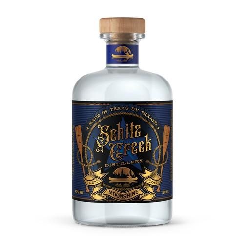 Schitz Creek Distillery Label Design