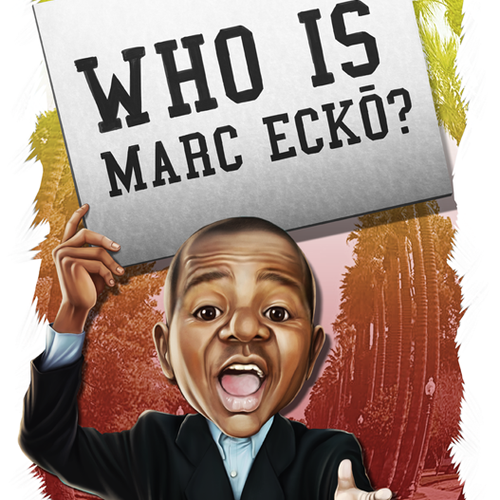 """Caricature painting of """"GARY COLEMAN- CHILD ACTOR ASKing """"WHO IS MARC ECKO?""""---Create the next illustration for BOOK"""