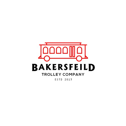 Trolley company logo concept