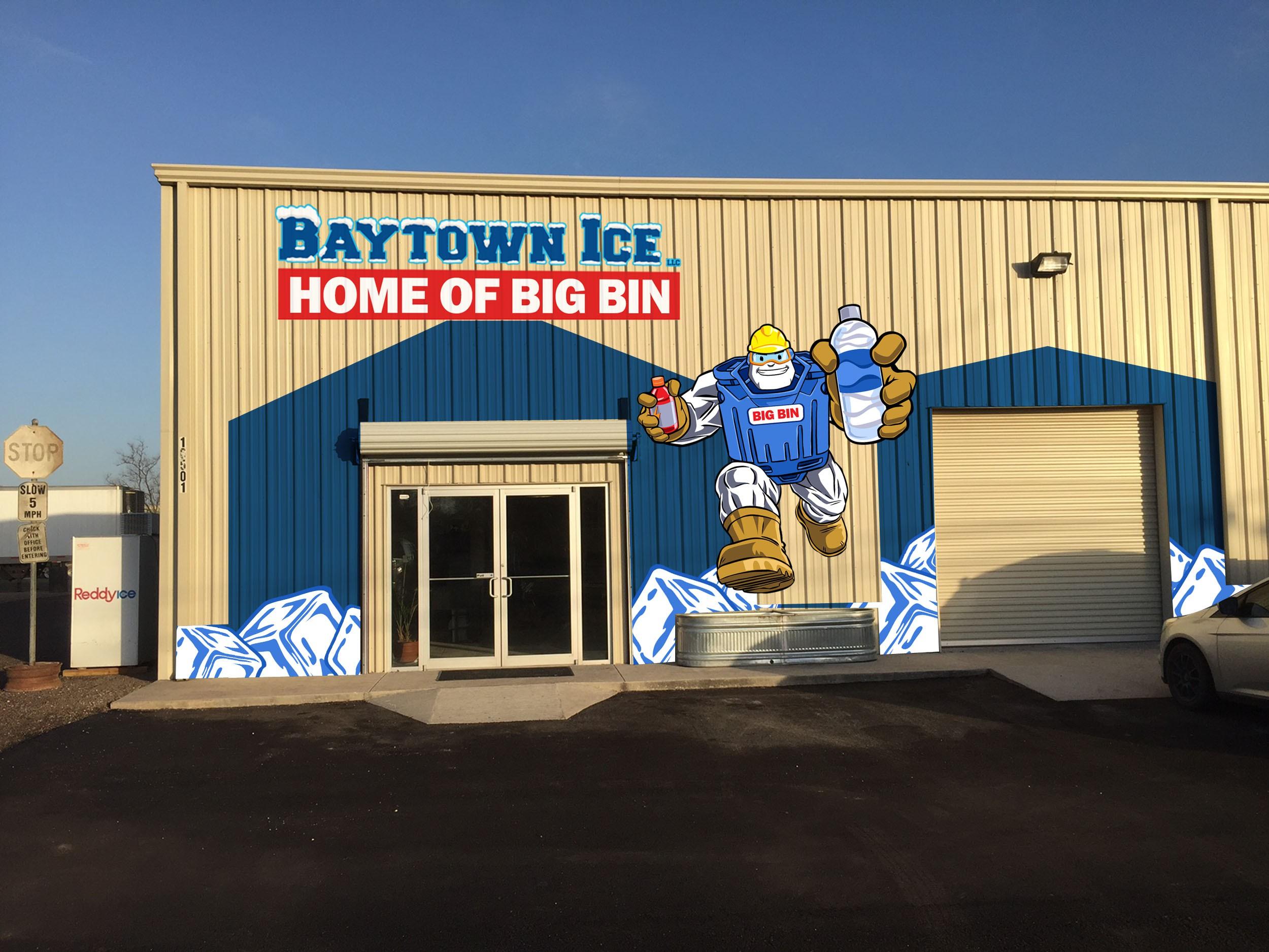 "Design Bold Character ""Big Bin"" for Baytown Ice"
