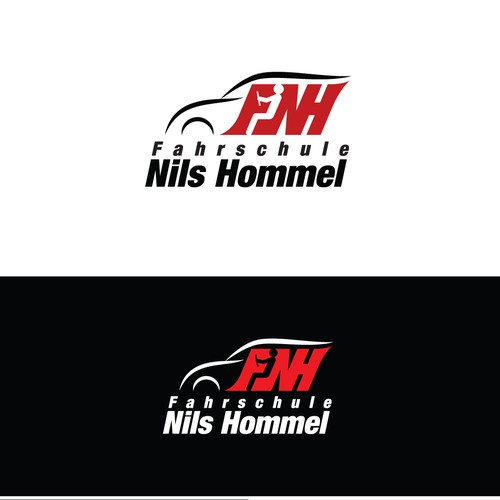 Driving school logo design