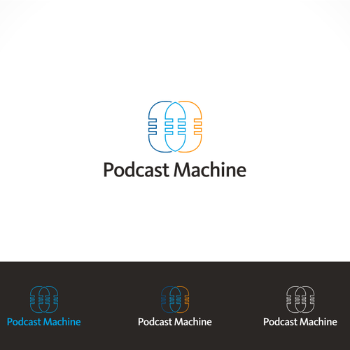Create a simple, vivid, modern, and abstract logo for a podcast hosting service