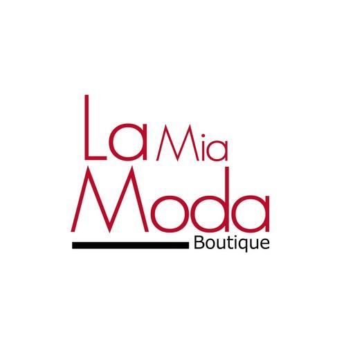 Logo design for La Mia Moda Boutique