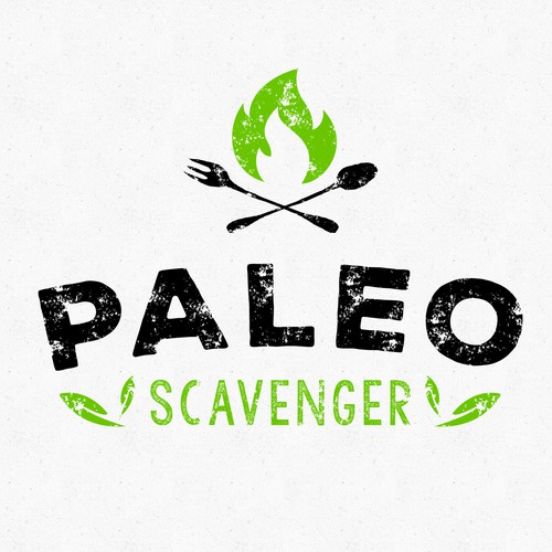 Logo design for Paleo Scavenger Snacks