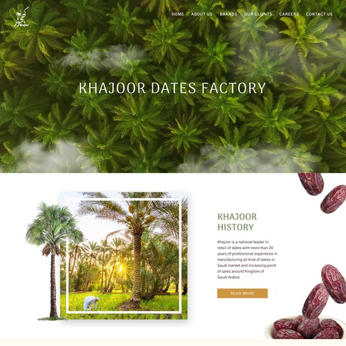 Organic and Nature inspired design for Date Fruit Factory - Khajoor