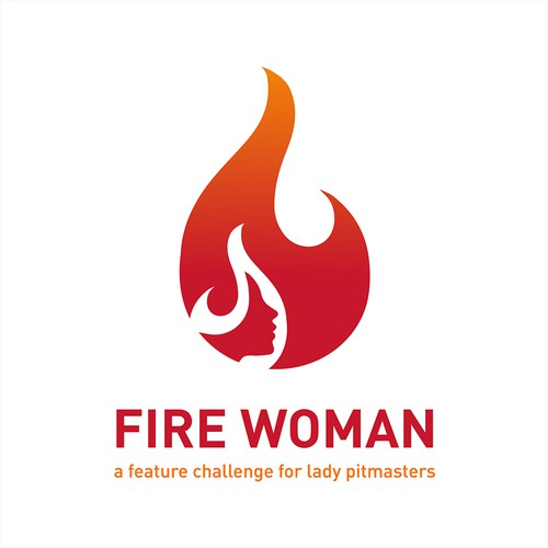 Logo for fire woman