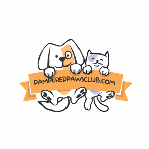 Pampered paws club logo