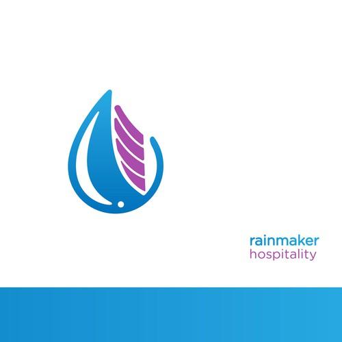 Subtle logo concept for Rainmaker Hospitality