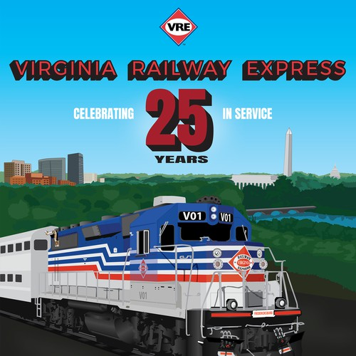 Poster for Virginia railway express