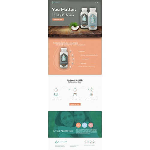 Healthcare Product Landing Page