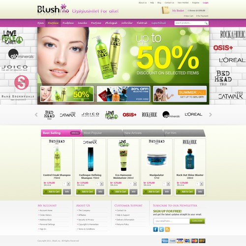Blush: Web Design