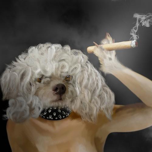 Dogs Who Smoke Cigars