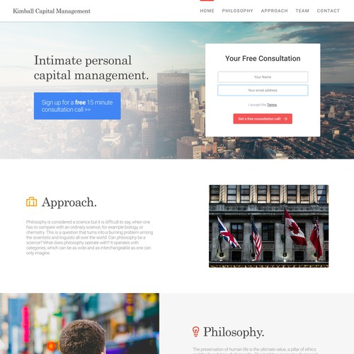 Design Concept for Kimball Capital