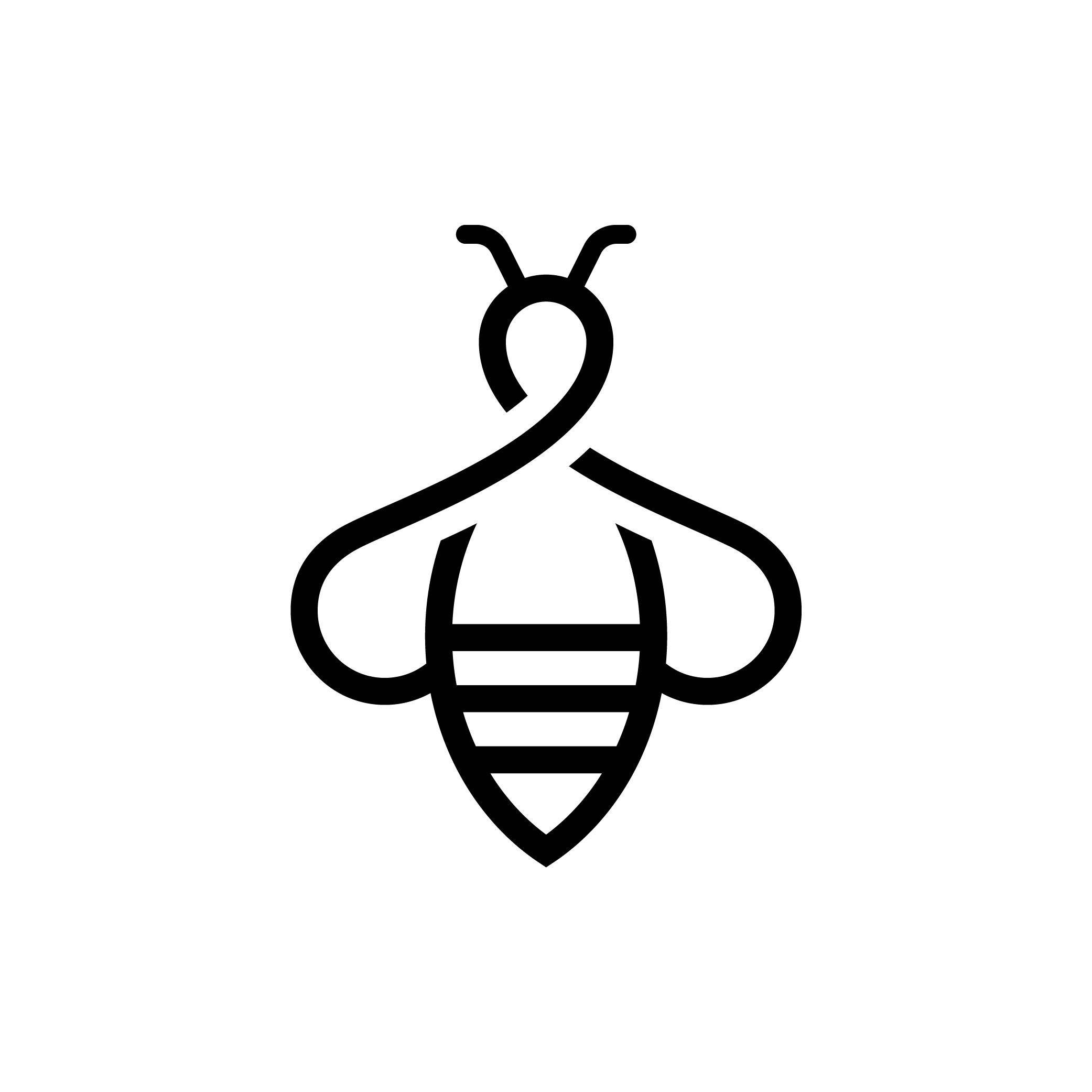 Logo Design Need for a Minimalist outline of a bee