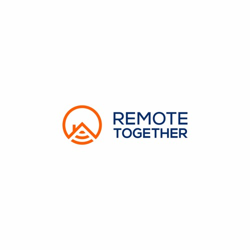 Geometric logo design for Remote Together