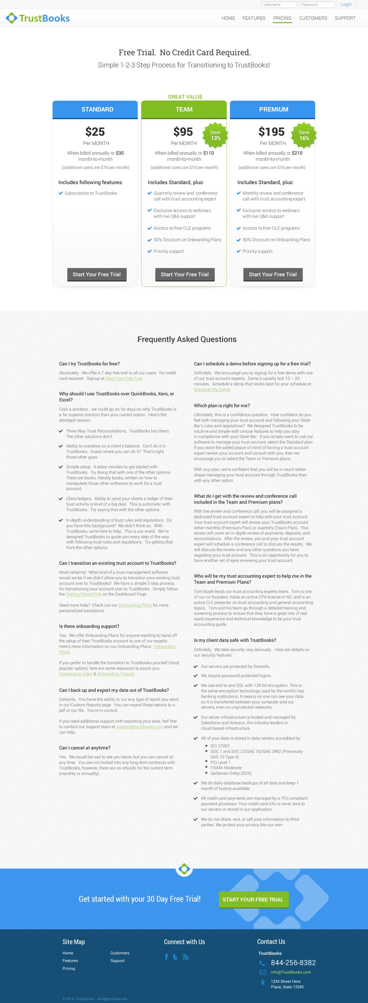 TrustBooks Website Design - Version 1.1