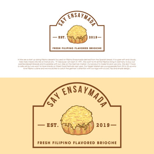 Made this illustrated and vintage logo for a start up bakery business
