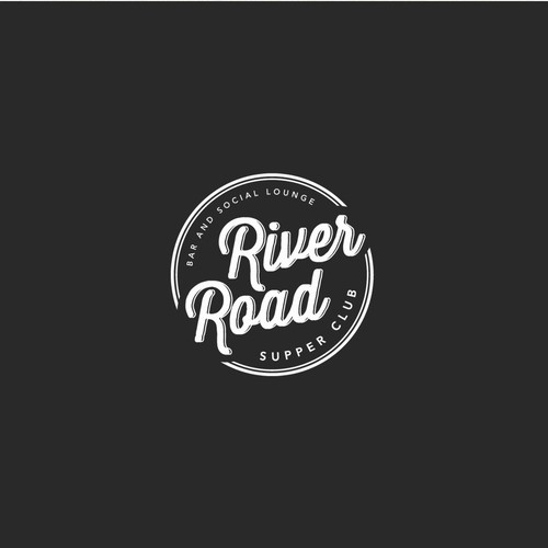 "Logo design for ""River Road"" - supper club."