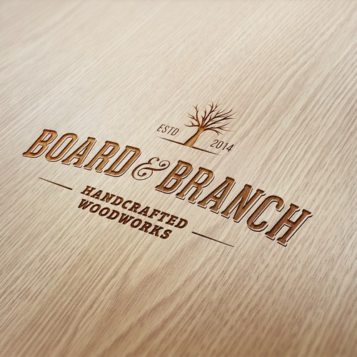 Logo for wood company