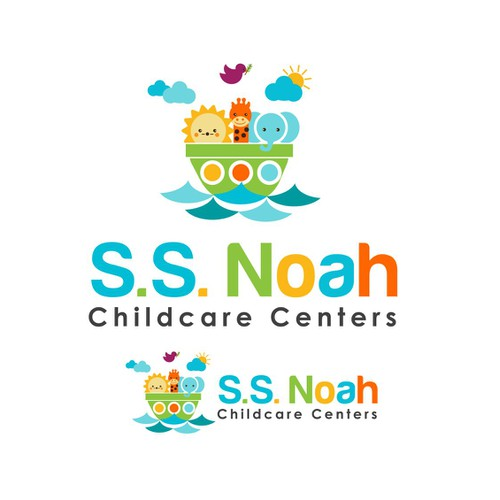 Create the winning brand signature for S.S. Noah Childcare centers.
