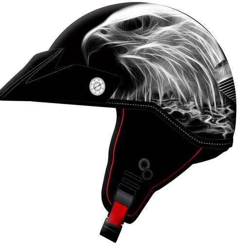 Helmet illustration design