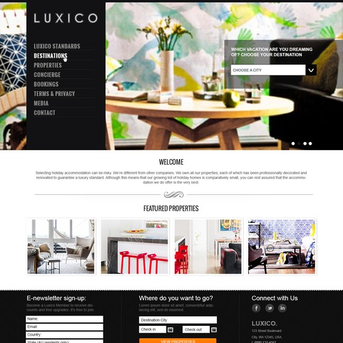 Luxico needs a new website design