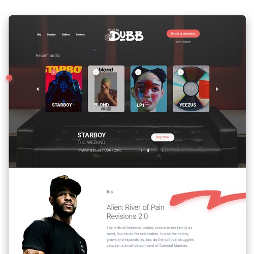 Create Website For Audio Engineer (Mixed By Dubb)