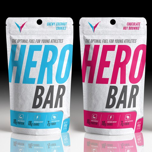 Packaging Design of Protein Bar for Young Athletes
