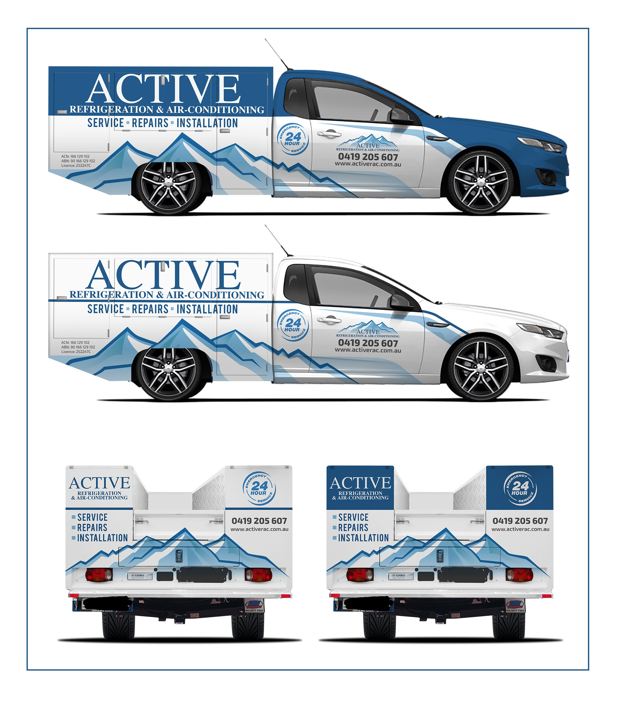 Create a dynamic wrap for our vehicles to show off our business