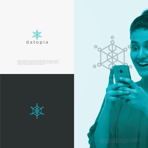 In contest datopia (data+utopia) - a community-oriented blockchain database Logo