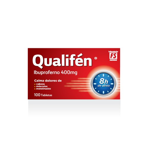 Ibuprophen packaging