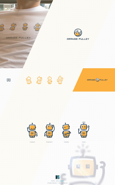 Orange Pulley Logo Design