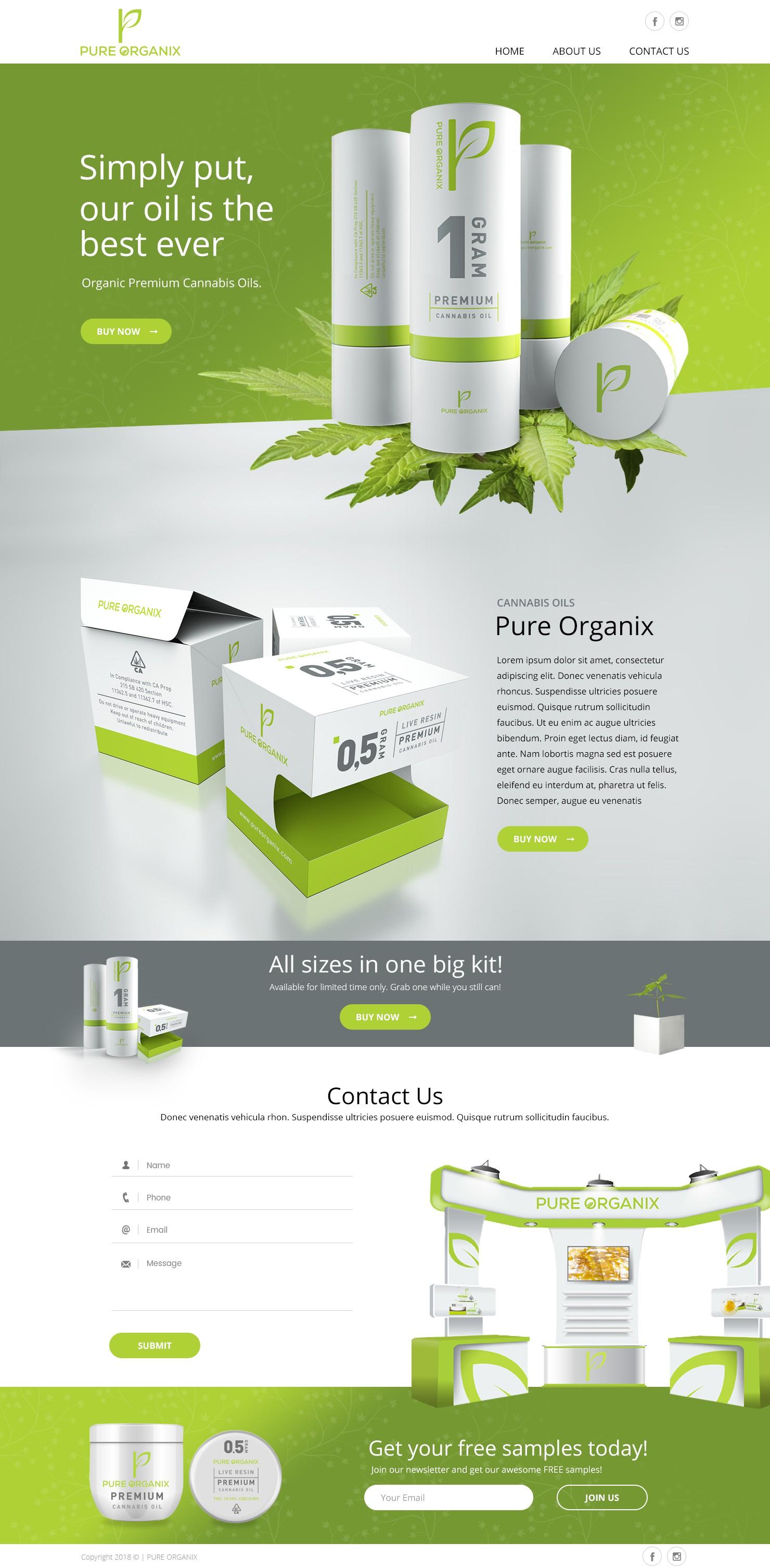Pure Organix Website
