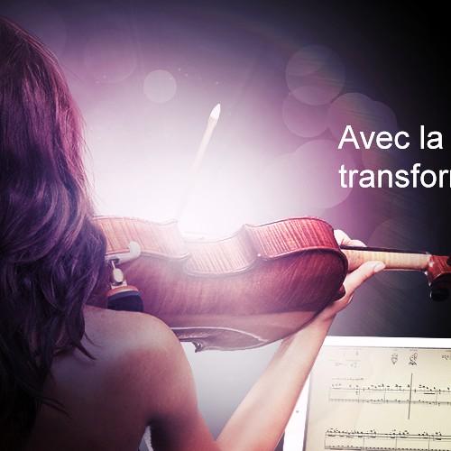 Static banner for music app