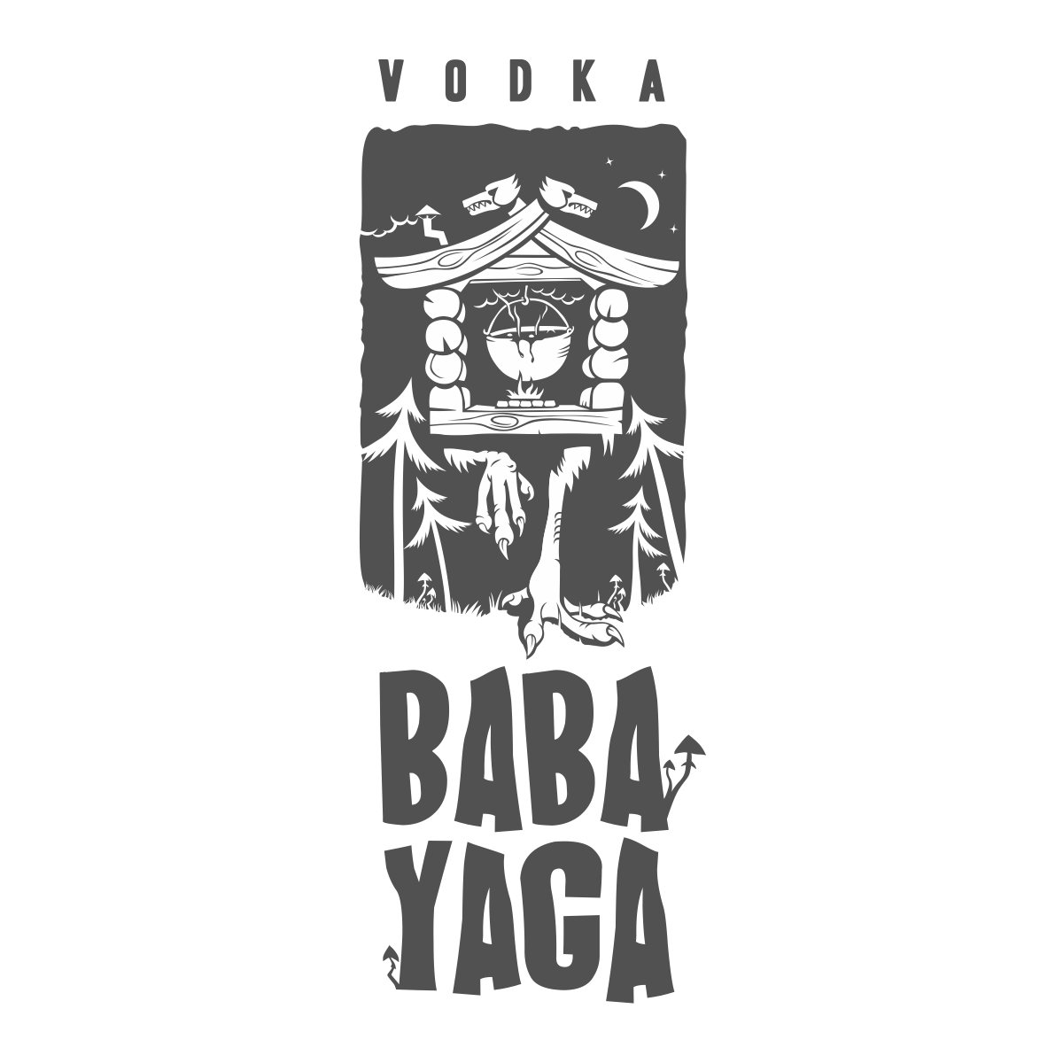 Baba Yaga Vodka Black and White