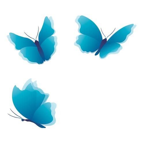Inspirational butterflies illustration