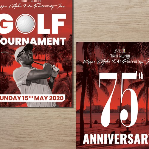 Golf Tournament and 75th Anniversary Flyers