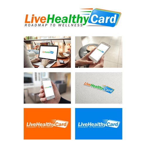 Create a wellness logo that will capture every age group for LiveHealthyCard