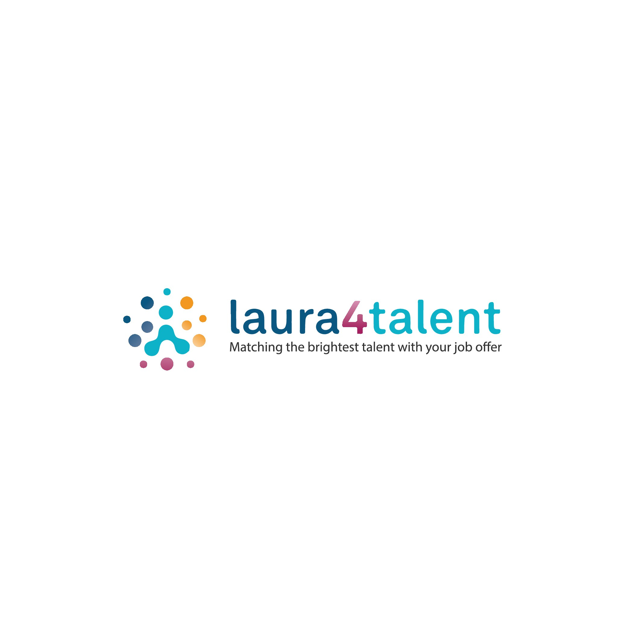 New logo for Laura4talent - A recruitment service on-line