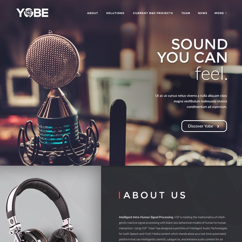 Bold concept for sound company