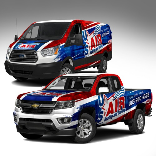 Bold and eyecatching vehicle wrap design