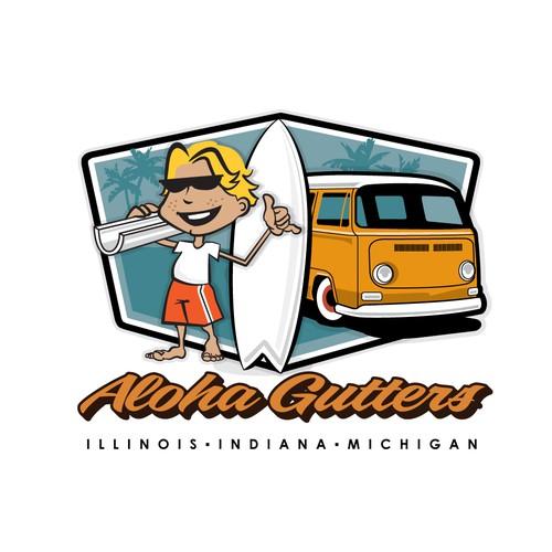 Logo for Aloha Gutters