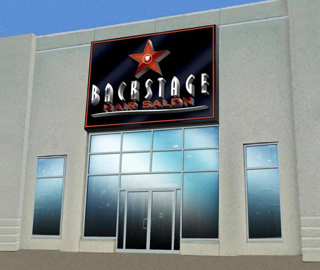 Help Backstage Hair Salon with a new signage